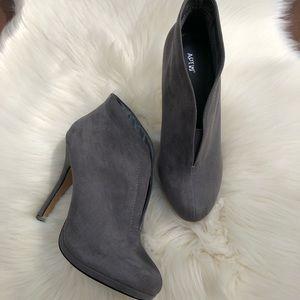 Apt 9 Grey High Heel Ankle Boots